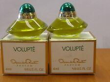 Lot of 2 Volupte By Oscar de la renta Perfume women 1/8 fl.oz / 4ml Parfum NIB