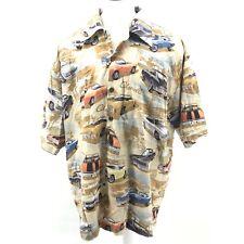 David Carey 3XL Chevy Chevelles Printed on Hawaiian Camp Shirt Button Down