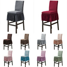 Stretch Counter Stool Chair Covers Skirt Barstool Slipcover Dining Chair Cover