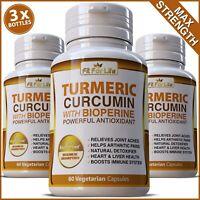 TURMERIC BIOPERINE BLACK PEPPER 95% CURCUMIN PAIN RELIEF TUMERIC PILLS CAPSULES