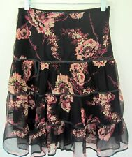 Betsey Johnson Layered Ruffle Tiered Skirt Gorgeous Florals Size 6