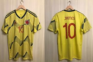 Colombia team #10 James 2019/2020 home Sz L Adidas shirt jersey football soccer