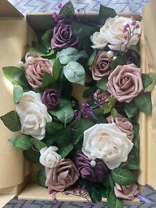 Ling's Moment Artificial Rose Flower Runner 5ft Flower Garland Floral Decor