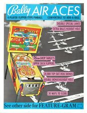 Bally AIR ACES Pinball Machine Flyer Brochure