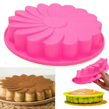 9'' Silicone Flower Cake Chocolate Bread Mould Mold Bakeware Pan Baking Tool