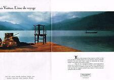 PUBLICITE ADVERTISING 094  1991  LOUIS VUITTON  bagages valises (2p) AME DU VOYA