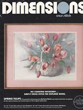 Dimensions Cross Stitch Kit #3614 Spring Tulips Vintage 1986 New Open Package