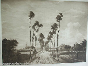 ANTIQUE PRINT 1901 THE AVENUE MIDDELHARNIS HOLLAND BY HOBBEMA FAMOUS PAINTINGS
