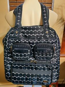 LUG Puddle Jumper Infinity Weekend Gym Bag Blue Quilted Travel Bag Carry-On EUC