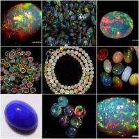 100% Natural Ethiopian Opal Rough/Opal Cabochon/Opal Necklace/Faceted Opal/ Gems
