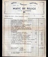 "MOUZAIAVILLE (ALGERIE) TAPISSIER DECORATEUR ""Marc DE FELICE Artisan"" en 1956"