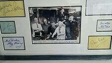on the buses hand signed by all 6....25x14 inch professionally framed