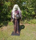 Gemmy Life Size Animated Halloween Cauldron Witch Prop