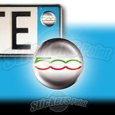 3 ADESIVI targa 500 tricolore ITALIA Fiat stickers  auto moto camper
