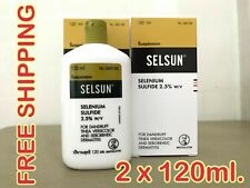"2 bottles x 120 ml Selsun Treatment Shampoo ""Top Seller"" for HAIR ANTI DANDRUFF"