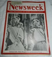 Vintage Dec 18, 1944 Newsweek Magazine, Partisan Girls: Their Weapons an issue