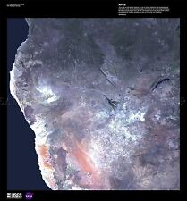 SCIENCE MAP SATELLITE AFRICA NAMIBIA WINDHOEK AFRICA REPRO POSTER PRINT PAM1487