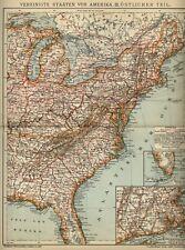 1903 = UNITED STATES East Coast = Antica Mappa = OLD MAP