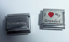 I LOVE MY GRANDAD 9mm Italian Charm + 1x Genuine Nomination Classic Link HEART