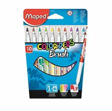 Maped Color Peps Brush Tip Pens Markers Felt Tips Washable Stationery Childrens