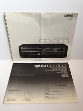YAMAHA CD-300 Compact Disc CD Original Operating Instructions Manual Spec Sales