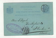 Pays-Bas entier postal sur carte postale 1892 tampon Rotterdam  /L355