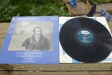 Rossini String Sonatas Marriner Argo Stereo Oval ZRG 506 TAS UK LP