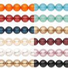 Lot of 10 Smooth Round Swarovski Crystal Loose Pearl Beads Small - Big (5810)