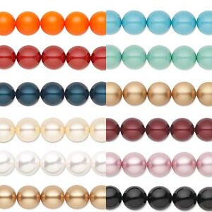 Lot of 10 Smooth Round Swarovski Crystal Loose Pearl Beads Small - Big (5810)