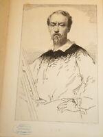 Charles Josuah CHAPLIN (1825-1891) EAU FORTE PORTRAIT FELIX ZIEM PEINTRE MARINE