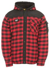 Caterpillar Sequoia 1610006 red cotton plaid thermal fleece lined jacket