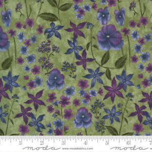 FABRIC Moda ~ VIOLET HILL  ~ Holly Taylor (6823 11) Celery - by the 1/2 yard