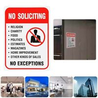 No Soliciting Charity Food Politics Indoor Outdoor Funny Aluminum Warning Sign
