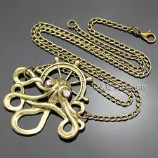 Vintage Argonaut Kraken Cthulhu Octopus Rudder Steampunk Chain Necklace Goth
