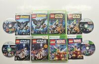 Xbox 360 Lego Star Complete Saga, II 2 Trilogy, Batman & Marvel Super Heroes!