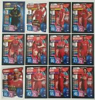 2019/20 Match Attax UEFA Soccer Cards - Liverpool Team Set inc 3 shiny (100Club)