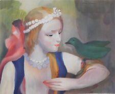 Lithografie Marie Laurencin - Fille avec l'Oiseau Vert