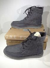 TOMS Men's Searcher Boots Grey Quilted Wool Suede Boot Shoes Sz L 8 R 8.5 ZJ-605