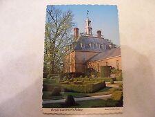 VINTAGE POSTCARD OF THE GOVERNOR'S PALACE WILLIAMSBURG, VA