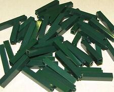 LEGO LOT OF 50 NEW DARK GREEN 1 X 1 X 5 PILLARS COLUNS BEAMS PIECES