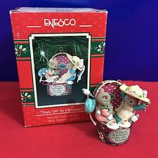 Enesco Treasury Ornament Hats Off To Christmas Best Friends Series 1991 New E14