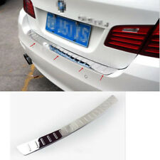 Steel Chrome Rear Bumper Protector Plate Guard for BMW 5 Series F10 2011- 2015