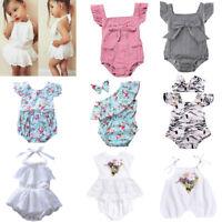 Newborn Infant Baby Girls Romper Bodysuit Jumpsuit Outfits Sunsuit Clothes 0-24M