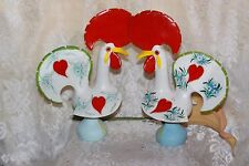 PAIR Traditional Portuguese Ceramic Rooster Roosters 10 inches
