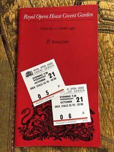 Royal Opera House Programme 1970 Verdi Il Trovatore - Leontyne Price, James King
