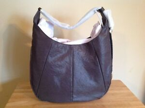 Frye Jacqui Large Antique Pull Up Italian Leather Whipstitch Hobo Grey Brass NWT