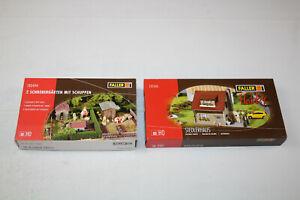 2 x Faller H0 180494 131243 / 2 Schrebergärten mit Schuppen und Siedlerhaus