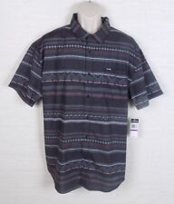 Zoo York Mens Striped Button Front Short Sleeve Shirt Size 2XL NWT
