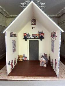 Vintage Miniature Dollhouse Artisan Sharon Zeikel Wood Litho Garden Play House
