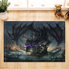Mat Bathroom Rug Bedtoom Carpet Bath Mats Rug Non-Slip Dragon and skull
